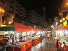 Night market outside the doorstep of our hotel in Guilin
