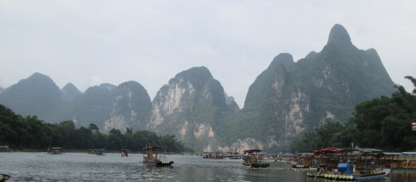 View within the harbor of our Li river boat cruise