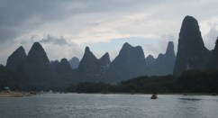 Karst mountains along the river