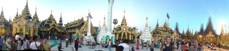 Temples galore surrounding the main temple in Yangon