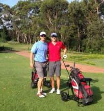 Tony treating Jon to a round of golf where Tony used to work