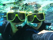The two snorkelers - we took turns with our rented underwater camera