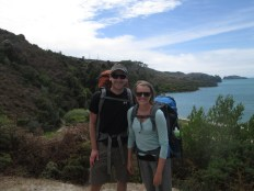 At the beginning of our 2-day tramp (as they call it) in Abel Tasman