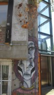 Some street art and cool apartments in Santiago