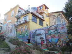 Steep streets and alleys lined with art - that is Valpo