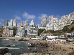 High rises in towns north of Vina del Mar