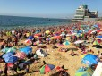 Main Vina del Mar beach - more people than beach!