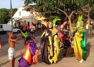 Festive Olinda Carnaval goers