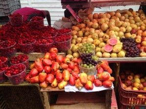 Fruit stands in Salvador