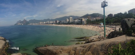 Panorama of Ipanema beach in Rio
