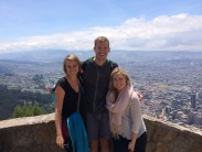Three buddies with Bogota behind