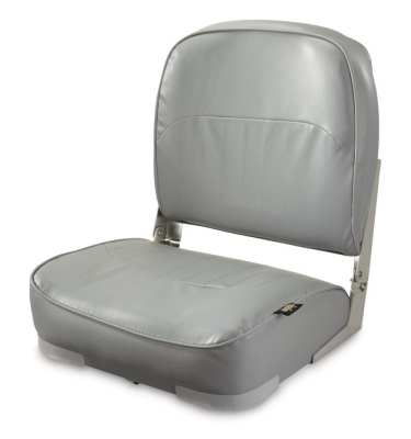 This is a round boat seat in a grey color