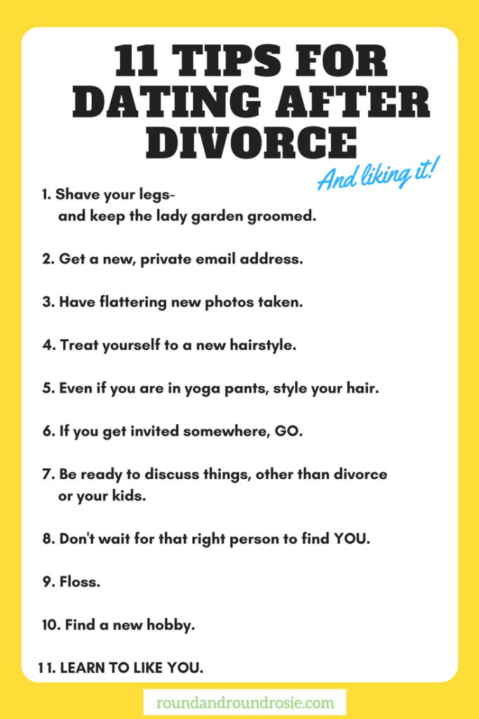 tips for dating again after divorce