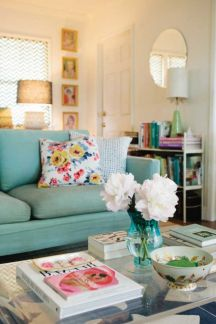 Colorful and spring living room designs (26)