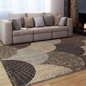 Cool brown and blue living room designs (1)