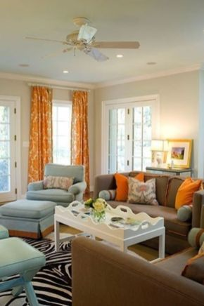 Cool brown and blue living room designs (15)