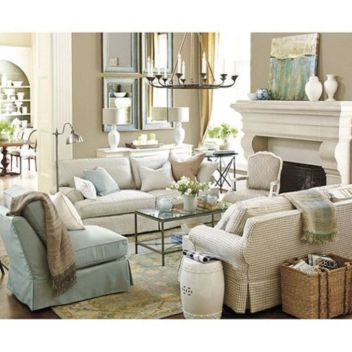 Cool brown and blue living room designs (23)