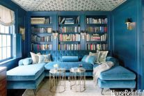 Cool brown and blue living room designs (26)