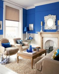 Cool brown and blue living room designs (5)