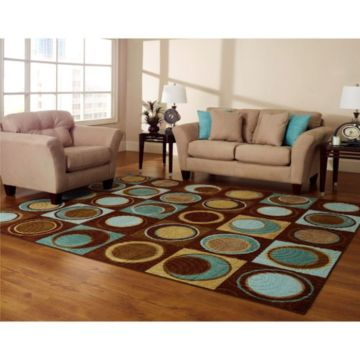 Cool brown and blue living room designs (8)