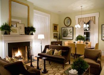 Cool brown and blue living room designs (9)