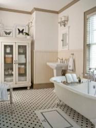 Cozy and relaxing farmhouse bathroom designs (11)