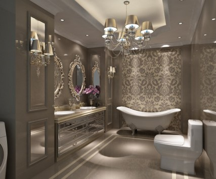 Dark moody bathroom designs that impress (21)