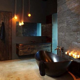 Dark moody bathroom designs that impress (23)