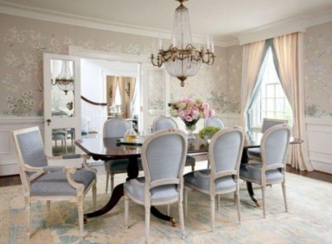 Elegant feminine dining room design ideas (12)