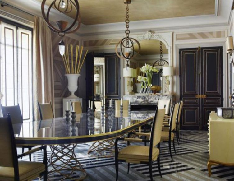 Elegant feminine dining room design ideas (13)