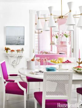 Elegant feminine dining room design ideas (16)