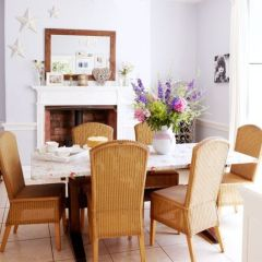 Elegant feminine dining room design ideas (17)