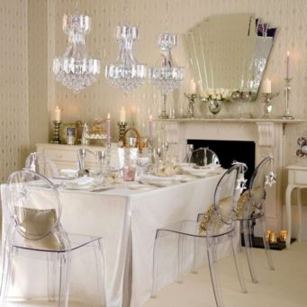 Elegant feminine dining room design ideas (2)