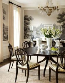 Elegant feminine dining room design ideas (28)
