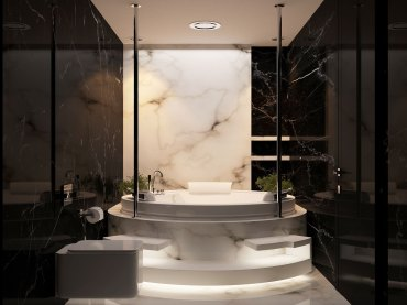 Luxurious marble bathroom designs (12)