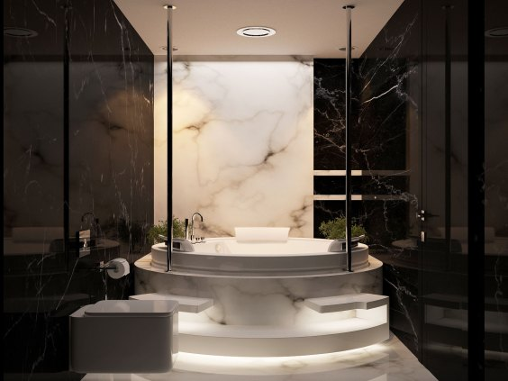 Luxurious marble bathroom designs (12)