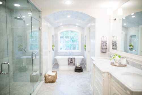 Luxurious marble bathroom designs (20)