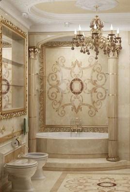 Luxurious marble bathroom designs (25)