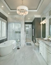 Luxurious marble bathroom designs (7)