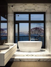 Luxurious marble bathroom designs (8)