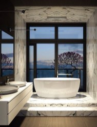 Luxurious marble bathroom designs (8)