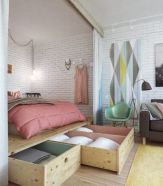 Smart bedroom storage ideas (16)