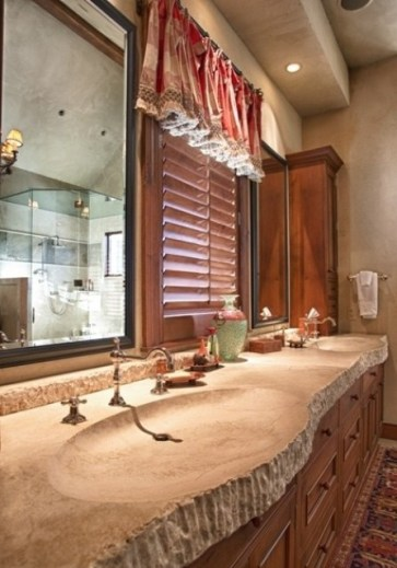 Wonderful stone bathroom designs (19)