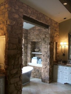 Wonderful stone bathroom designs (20)