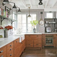 Modern farmhouse kitchen design ideas 12