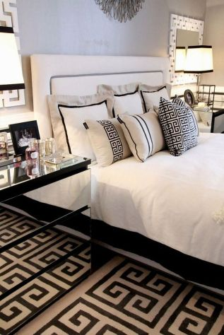 Stylish stylish black and white bedroom ideas (34)