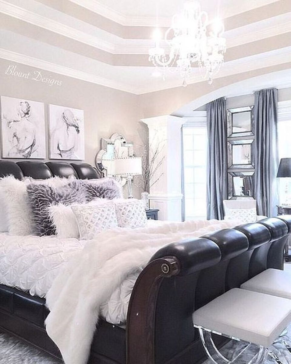 Stylish stylish black and white bedroom ideas (37)