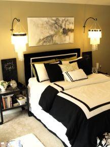 Stylish stylish black and white bedroom ideas (59)