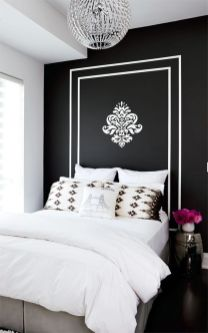 Stylish stylish black and white bedroom ideas (6)