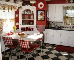 Amazing black and red kitchen decor 03